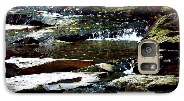Galaxy Case featuring the photograph Tranquil River In Asheville Nc by Jodi Terracina