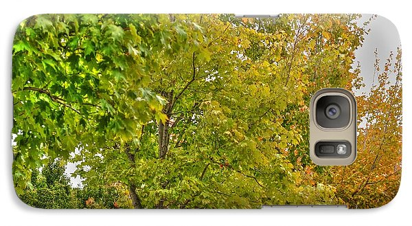 Galaxy Case featuring the photograph Transition Of Autumn Color by Michael Frank Jr
