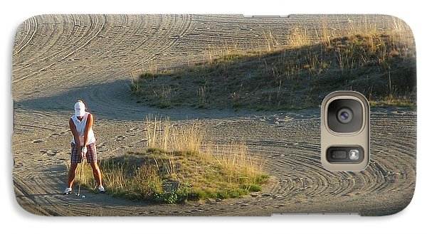 Galaxy Case featuring the photograph Trap - Chambers Bay Golf Course by Chris Anderson