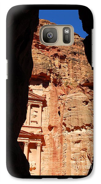 Galaxy Case featuring the photograph Treasury At Petra In Jordan by Eva Kaufman