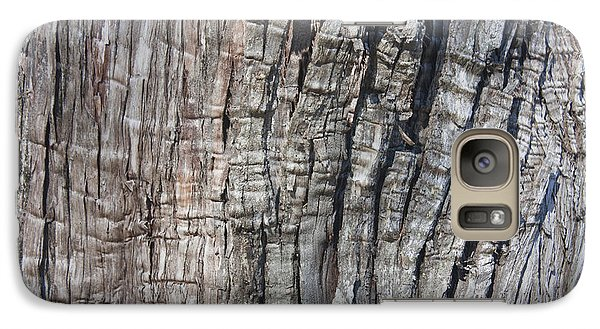 Galaxy Case featuring the photograph Tree Bark No. 1 Stress Lines by Lynn Palmer