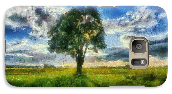 Galaxy Case featuring the painting Tree Of Life by Joe Misrasi