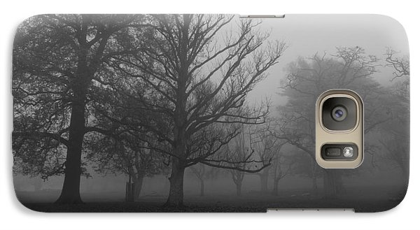 Galaxy Case featuring the photograph Trees And Fog by Maj Seda