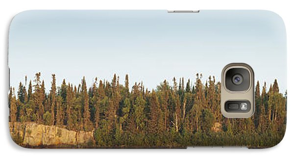 Galaxy Case featuring the photograph Trees Covering An Island On Lake by Susan Dykstra