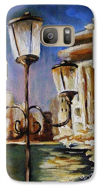 Galaxy Case featuring the painting Trevi Fountain by Karen  Ferrand Carroll
