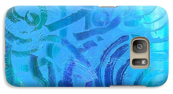 Galaxy Case featuring the painting Tribal by Mary Kay Holladay