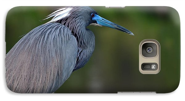 Galaxy Case featuring the photograph Tricolored Heron by Art Whitton