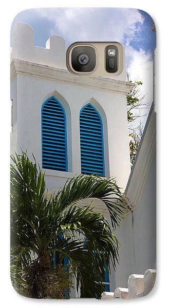 Galaxy Case featuring the photograph Trinity Presbyterian Church Tower by Ed Gleichman