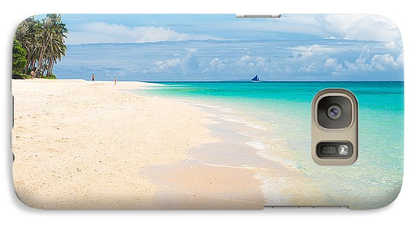 Galaxy Case featuring the photograph Tropical Beach by Hans Engbers