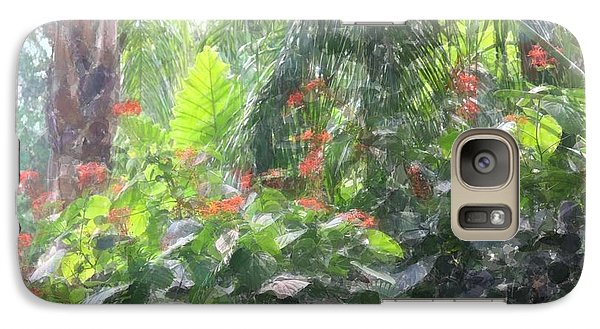 Galaxy Case featuring the photograph Tropical Paradise by Donna  Smith