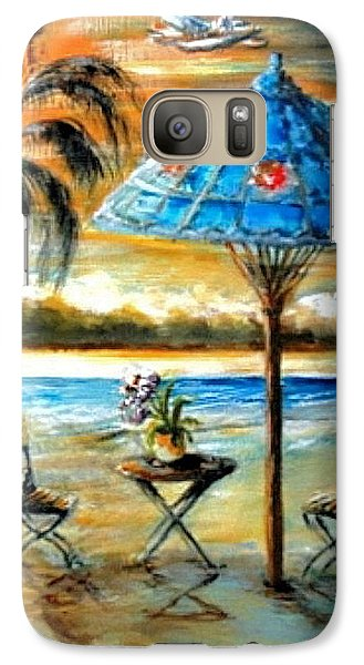 Galaxy Case featuring the painting Tropical Sunset by Bernadette Krupa