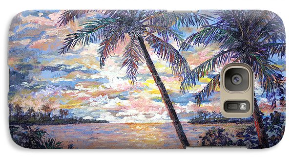 Galaxy Case featuring the painting Tropical Sunset by Lou Ann Bagnall