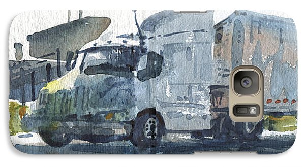 Galaxy Case featuring the painting Truck Panorama by Donald Maier