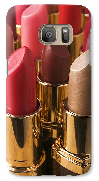 Tubes Of Lipstick Galaxy Case by Garry Gay