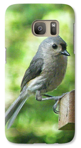 Galaxy Case featuring the photograph Tufted Titmouse by Lizi Beard-Ward