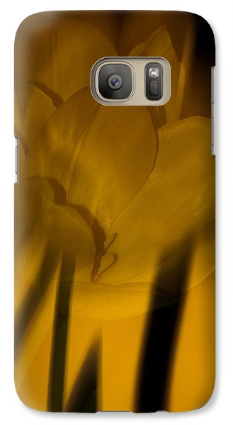 Galaxy Case featuring the photograph Tulip Abstract by Ed Gleichman