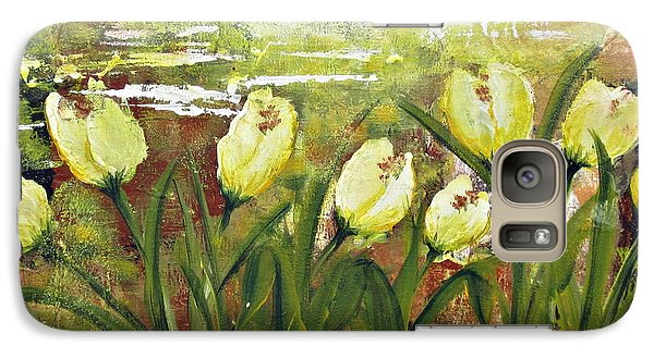 Galaxy Case featuring the painting Tulip Dance by Kathy Sheeran