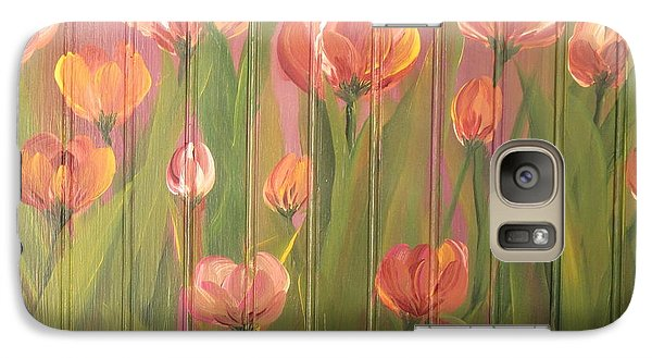 Galaxy Case featuring the painting Tulip Field by Kathy Sheeran