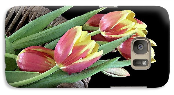 Galaxy Case featuring the photograph Tulips From The Garden by Sherry Hallemeier