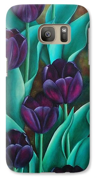 Galaxy Case featuring the painting Tulips by Paula L