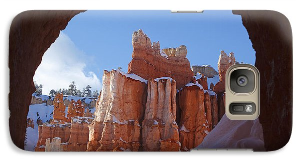 Galaxy Case featuring the photograph Tunnel In The Rock by Susan Rovira