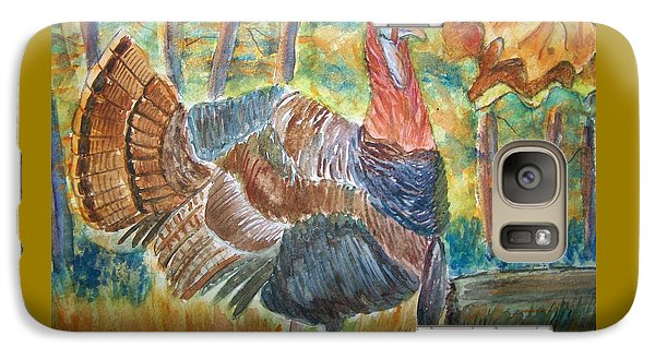 Galaxy Case featuring the painting Turkey In Fall by Belinda Lawson