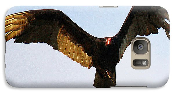 Galaxy Case featuring the photograph Turkey Vulture Evening Flight by Roena King