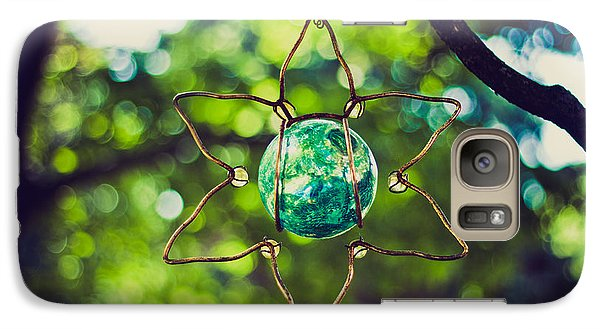 Galaxy Case featuring the photograph Turquoise Light by Sara Frank