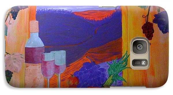 Galaxy Case featuring the painting Tuscan Lunch by Judi Goodwin