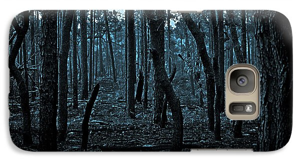 Galaxy Case featuring the photograph Twilight In The Smouldering Forest by DigiArt Diaries by Vicky B Fuller