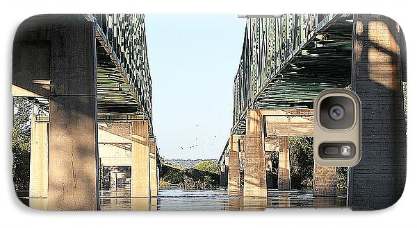 Galaxy Case featuring the photograph Twin Bridges by Elizabeth Winter