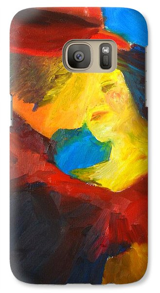 Galaxy Case featuring the painting Two Am Tango by Keith Thue