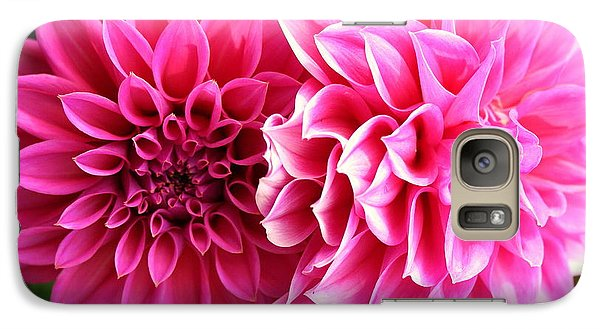 Galaxy Case featuring the photograph Two Dahlias In Shades Of Pink by Laurel Talabere