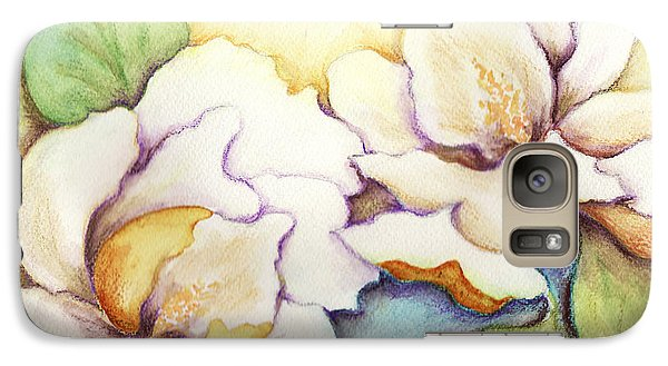 Galaxy Case featuring the painting Two Magnolia Blossoms by Carla Parris