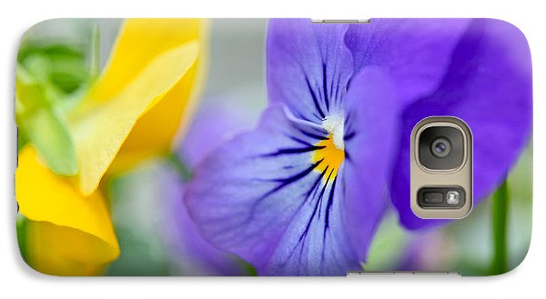 Galaxy Case featuring the photograph Two Pansies Ln Love by Luana K Perez