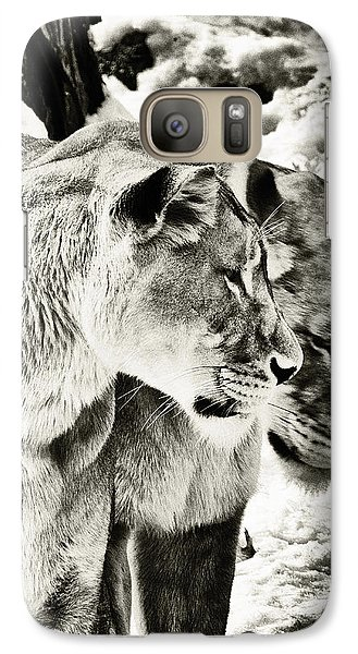Galaxy Case featuring the photograph Two Sisters by Perla Copernik