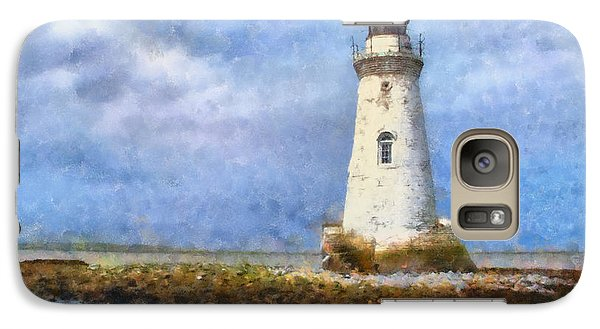 Galaxy Case featuring the painting Tybee Island Lighthouse by Lynne Jenkins