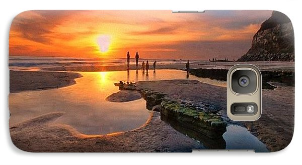 Galaxy S7 Case - Ultra Low Tide Sunset At A North San by Larry Marshall