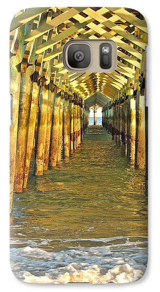 Galaxy Case featuring the photograph Under The Boardwalk by Eve Spring
