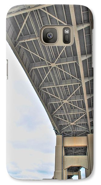 Galaxy Case featuring the photograph Under The Skyway by Michael Frank Jr