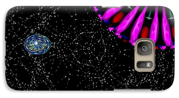 Galaxy Case featuring the digital art Unexpected Visitor by Alec Drake