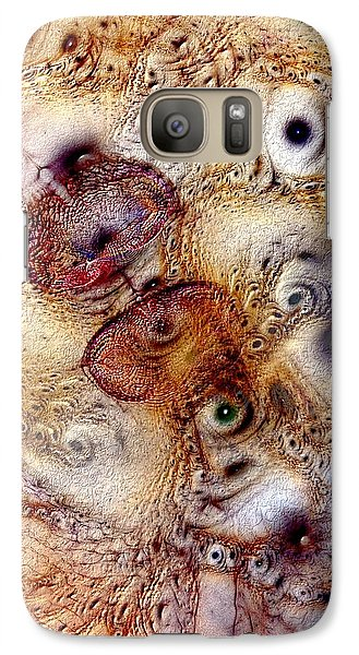 Galaxy Case featuring the digital art Unphased And Confused by Casey Kotas