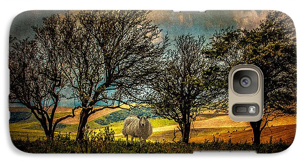 Galaxy Case featuring the photograph Up On The Sussex Downs In Autumn by Chris Lord