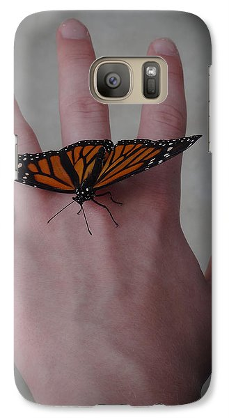 Galaxy Case featuring the photograph Upon My Hand by Julia Wilcox