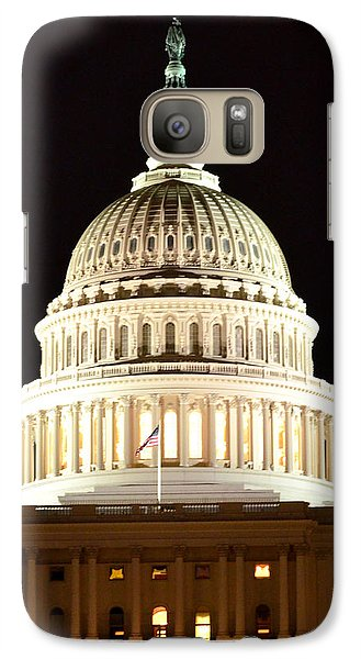 Galaxy Case featuring the photograph Us Capitol At Night by Pravine Chester