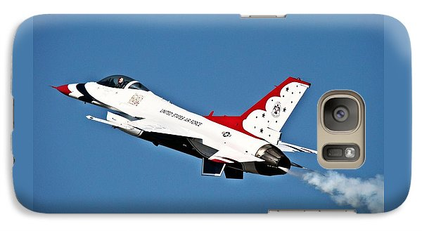 Galaxy Case featuring the photograph Usaf Thunderbird F-16 by Nick Kloepping