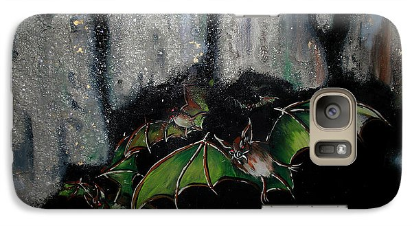 Galaxy Case featuring the painting Vampire Bats  by Nada Meeks