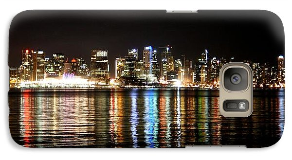 Galaxy Case featuring the photograph Vancouver Skyline At Night by JM Photography