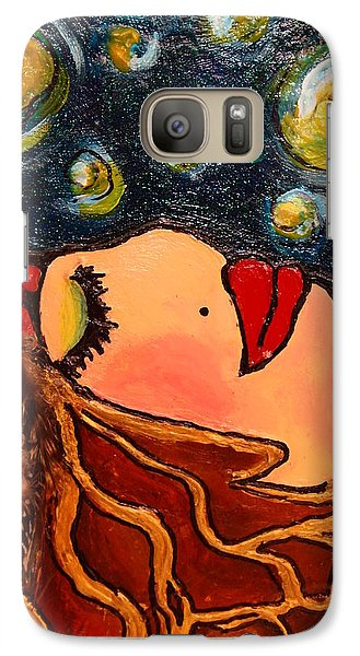 Galaxy Case featuring the painting Vangogh Dreams Cropped Version by Laura  Grisham