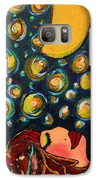 Galaxy Case featuring the painting Vangogh Dreams by Laura  Grisham